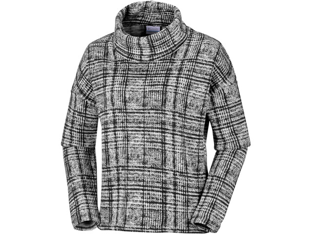 Columbia Chillin Pull en polaire Femme, black plaid print
